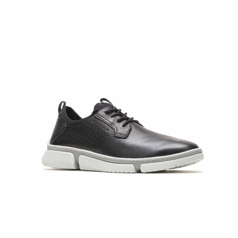 Men's Hush Puppies Bennet Plain Toe Oxford - Black Leather