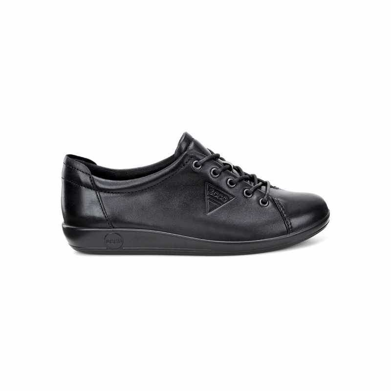 Women's Ecco Soft 2 Tie – Black