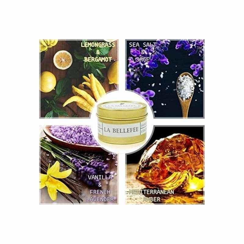 Four Piece Scented Soy Candle Set