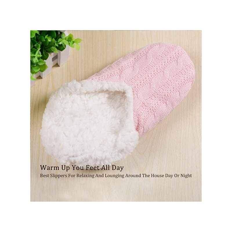 Fluffy Slipper Socks with Non Slip Lining