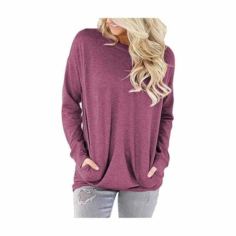 Women's Long Sleeve Top with Pockets