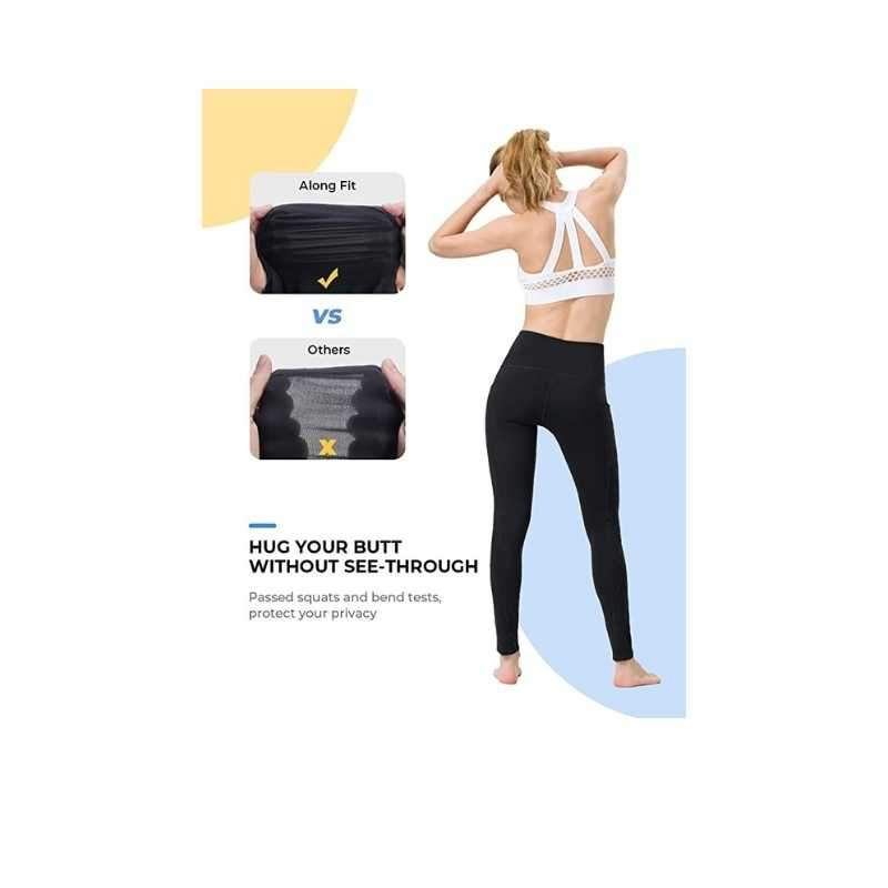 High Waisted Leggings with Pockets - Black