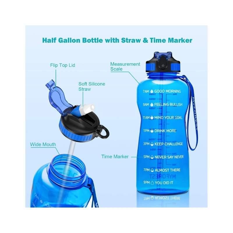 Motivational 74 oz Water Bottle Jug