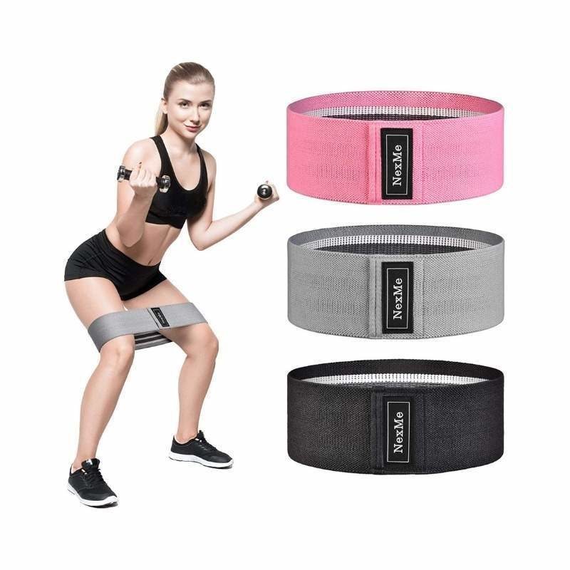 Non-Slip Heavy Resistance Exercise Bands (Set of 3)