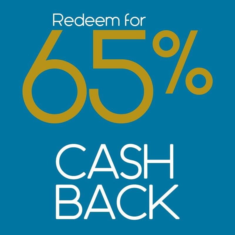 redeem for cash back